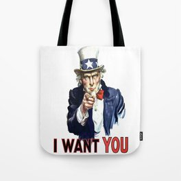 Uncle Sam I Want You Tote Bag