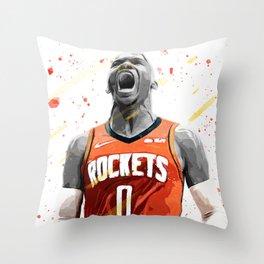 Westbrook Basketball Print Basketball Wall Art Basketball Poster Basketball Wall Decor Poster Throw Pillow