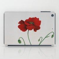 poppy iPad Cases featuring Poppy by Diane Nicholson