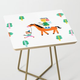 Colorful Cheerful Forest Side Table