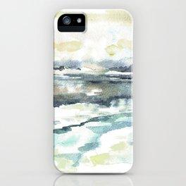 Siberia. Winter landscape / Watercolor. iPhone Case