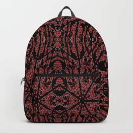 GOTHIC Red Unusual Rose Pattern Backpack