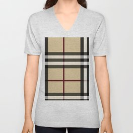 Flower in brown pattern Unisex V-Neck