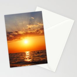 Aegean July sunset Stationery Cards