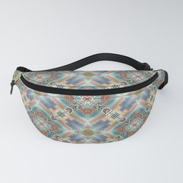 Doodle Tiled Abstract Print Fanny Pack
