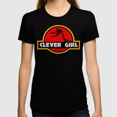 Clever Girl Womens Fitted Tee Black MEDIUM
