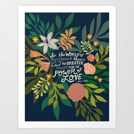 Power of Love Baha'i Quote Art Print