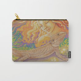 Sun And Dragon, Bearded Dragon Art Carry-All Pouch