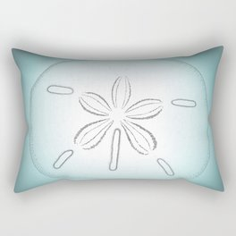 Sand Dollar Blessings - Pointilist Art Rectangular Pillow