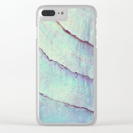 IRIDISCENT SEASHELL MINT by Monika Strigel Clear iPhone Case