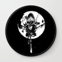 A Noir Witch Wall Clock