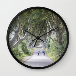 Dark Hedges, Northern Ireland Wall Clock
