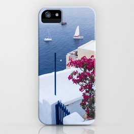 Santorini, Greece all Blue and White iPhone Case