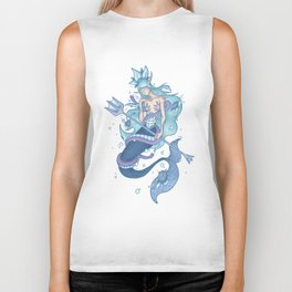 Wanda The Warrior Mermaid Biker Tank