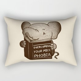 Elephant Overcoming Your Mice Phobia Rectangular Pillow