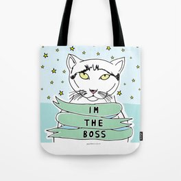 My Cat is the Boss Tote Bag