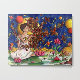 In love with a story Metal Print