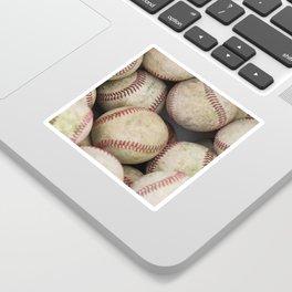 Many Baseballs - Background pattern Sports Illustration Sticker