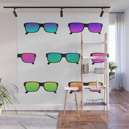 Summer print sunglasses bright colors Wall Mural