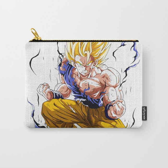Goku Super Saiyan 2 Carry All Pouch By Ognjen