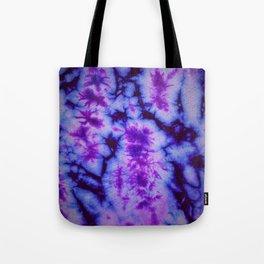Tie Dye in Blue and Purple Tote Bag