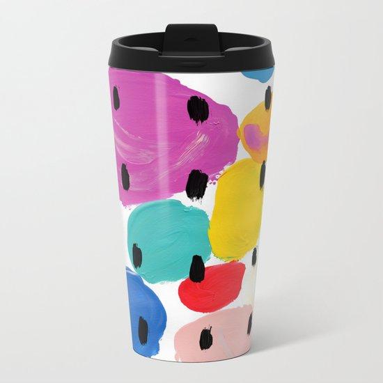 Bernard Pattern Metal Travel Mug