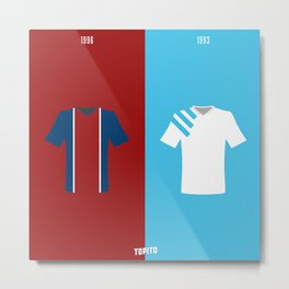 1996 VS 1993 (Paris VS Marseille) Metal Print