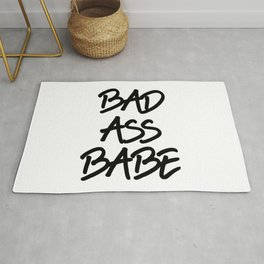 bad ass babe Rug
