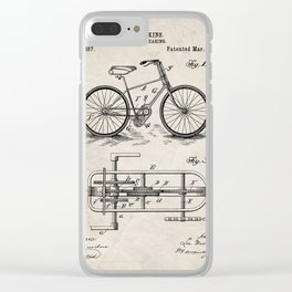 Bike Patent - Bicycle Art - Antique Clear iPhone Case