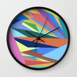 Colorful Triangle Pattern Wall Clock