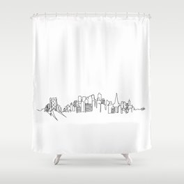 San Francisco Skyline Drawing Shower Curtain