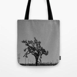 Joshua Tree Mailboxes Black and White Tote Bag