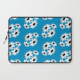 Bunch of Daisies Blue (small print) Laptop Sleeve