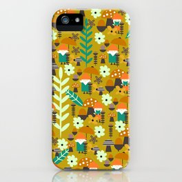 Autumn gnome garden iPhone Case