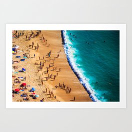 Summer at the beach - Nazare Portugal Art Print