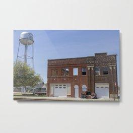 Brick Bank facade in Scranton, South Carolina Metal Print