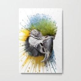 parrot bird star burst Metal Print