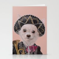 mexican Stationery Cards featuring Mexican Chihuahua by Rachel Waterman