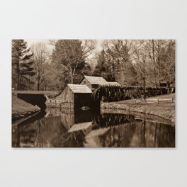 Mabry Mill (Sepia) Canvas Print