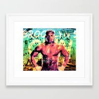 mike tyson Framed Art Prints featuring Never Ran Never Will - Iron Mike Tyson by GiancarloVargas