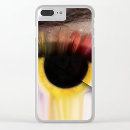 Staring Off Into Space Clear iPhone Case