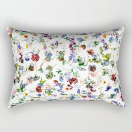 Colorful flowers abstract pattern, flower design Rectangular Pillow