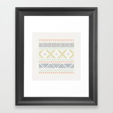 Into the West - in Mixed Earthtones Framed Art Print