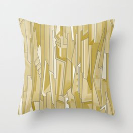 Graph (tan) Throw Pillow