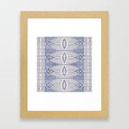 FRENCH LINEN TRIBAL IKAT Framed Art Print