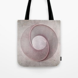 Geometrical Line Art Circle Distressed Rosegold Tote Bag
