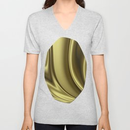 Abstract Fractal Colorways 02 Simple Gold Unisex V-Neck
