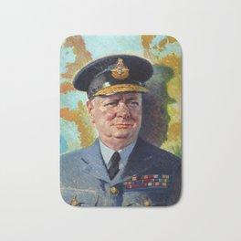 Winston Churchill In Uniform Bath Mat