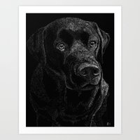 lab Art Prints featuring Chocolate Lab by Taylored Petraits