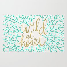 Wild at Heart – Turquoise & Gold Rug